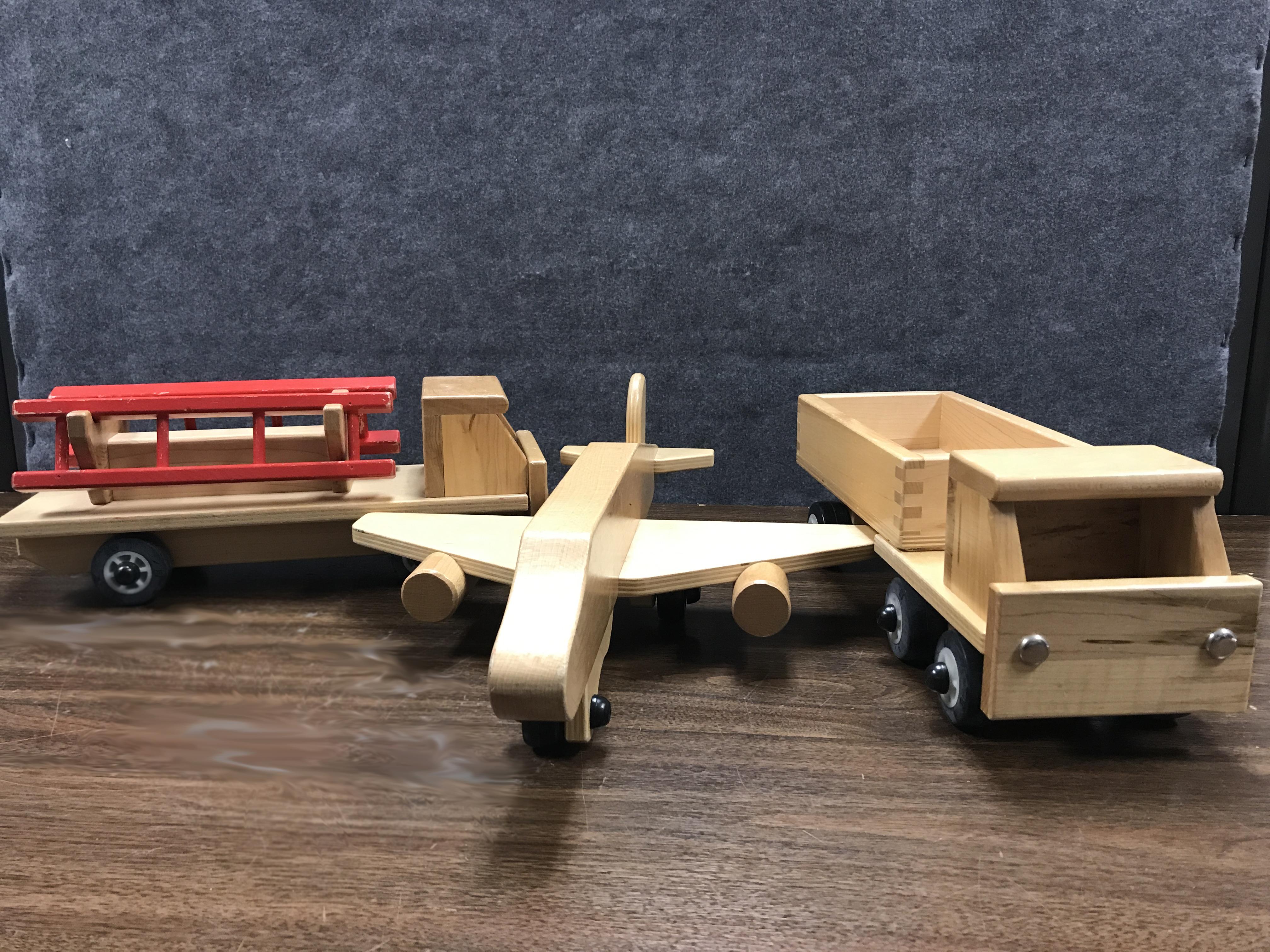 Wooden Truck/Airplane Set