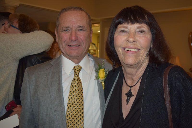 Board member, A. J. Pantel and Dr. Karin Pantel