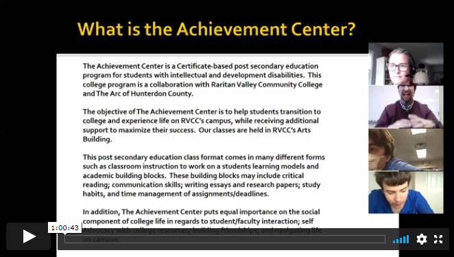 Virtual College Tour: The Achievement Center at Raritan Valley Community College (Part 1)