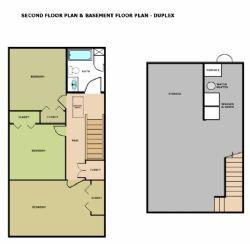 Second Floor Plan with Basement
