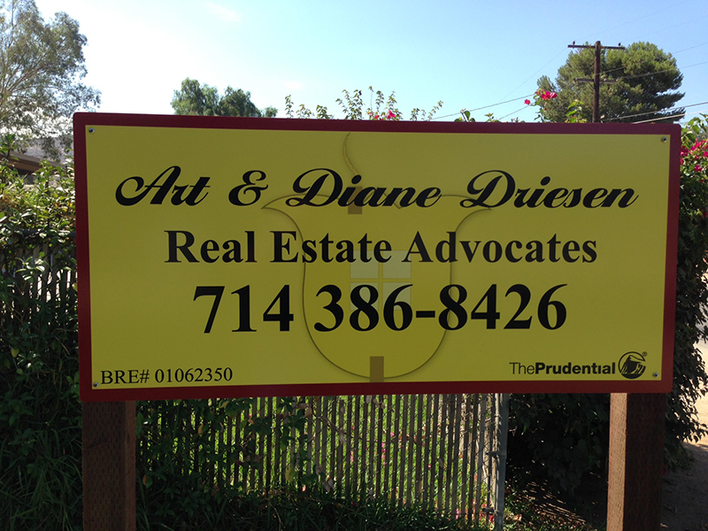 Two Post Real Estate Sign