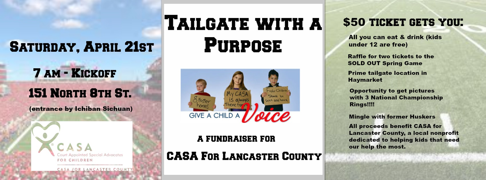 Tailgate with a Purpose!