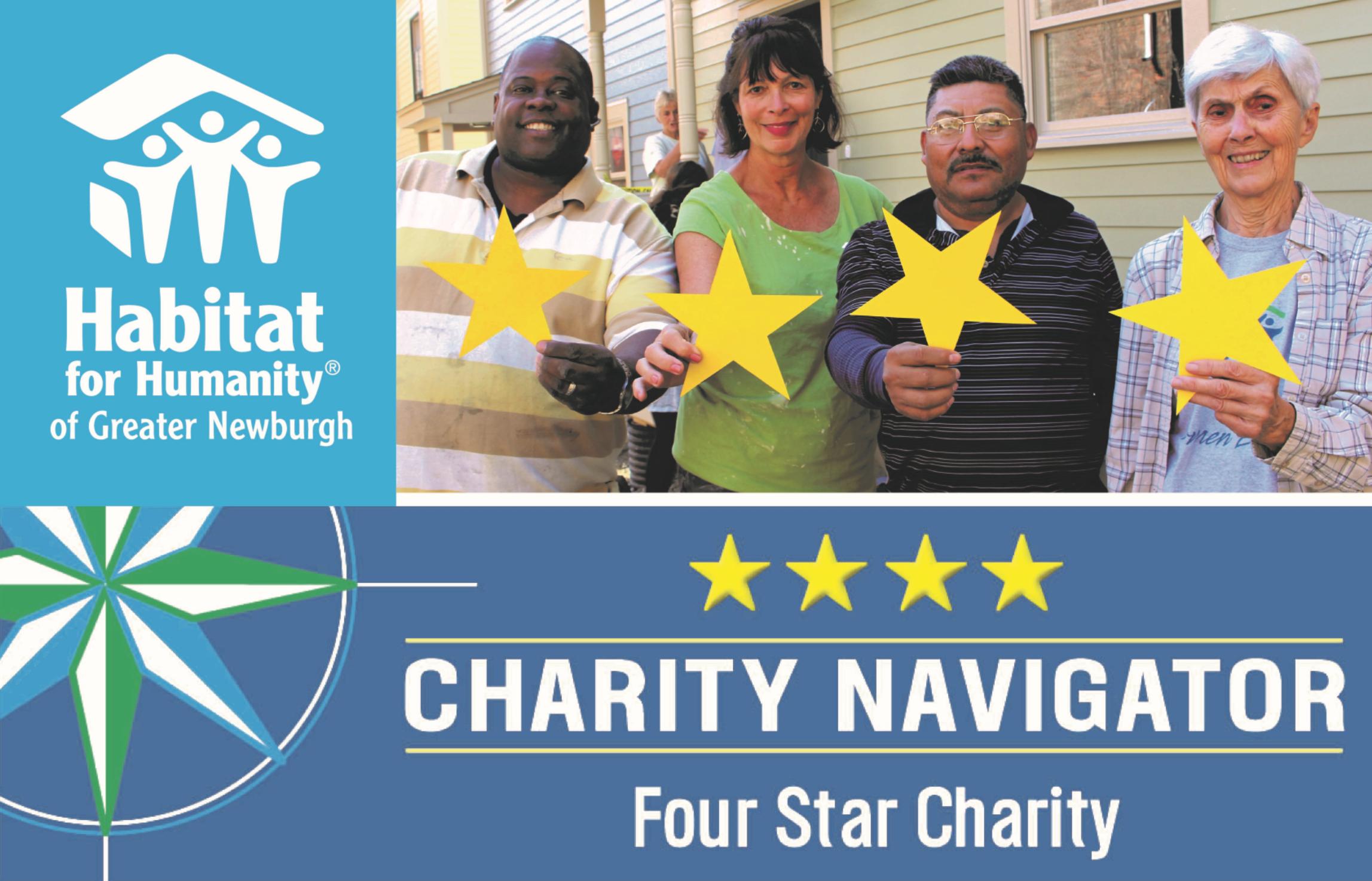 Habitat Newburgh Receives Top Rating from Charity Navigator