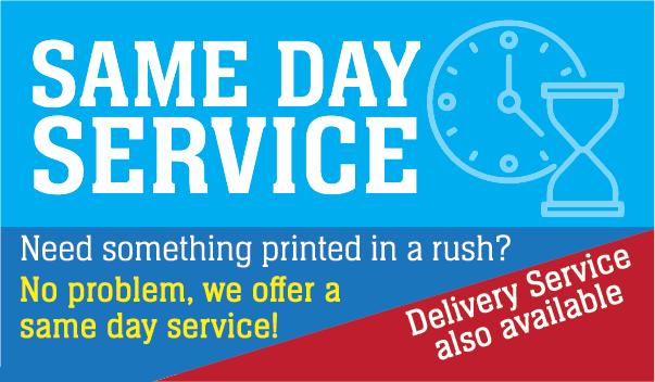 Rush-Same Day Printing Service