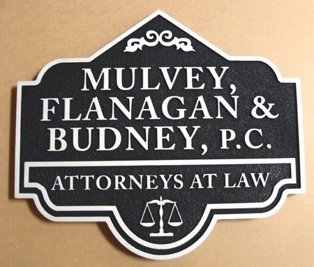 A10050 - Sandblasted HDU Law Firm Shingle