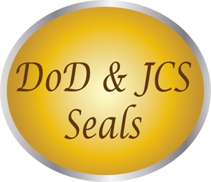 IP-1000 -  Carved Plaques of the Seals of the Department of Defense and Joint Chiefs of Staff