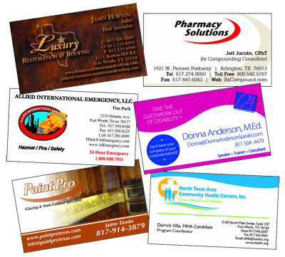 Printing business card flyers brochures and promotional