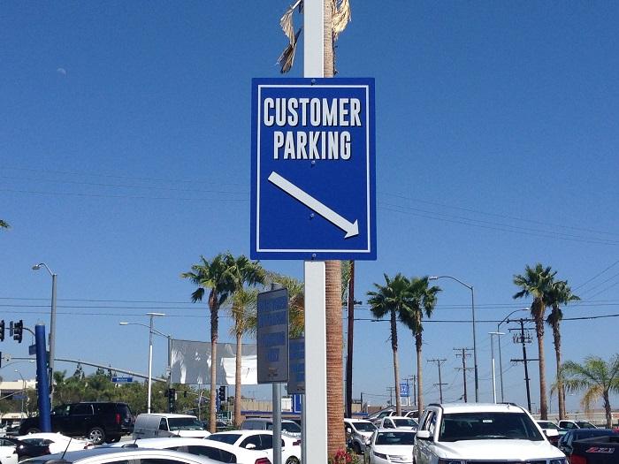 Auto Dealer Parking Signs