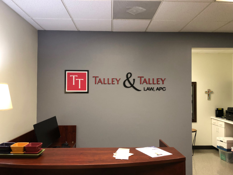 3D Logo Lobby Signs | Law Firms | Laguna Hills CA