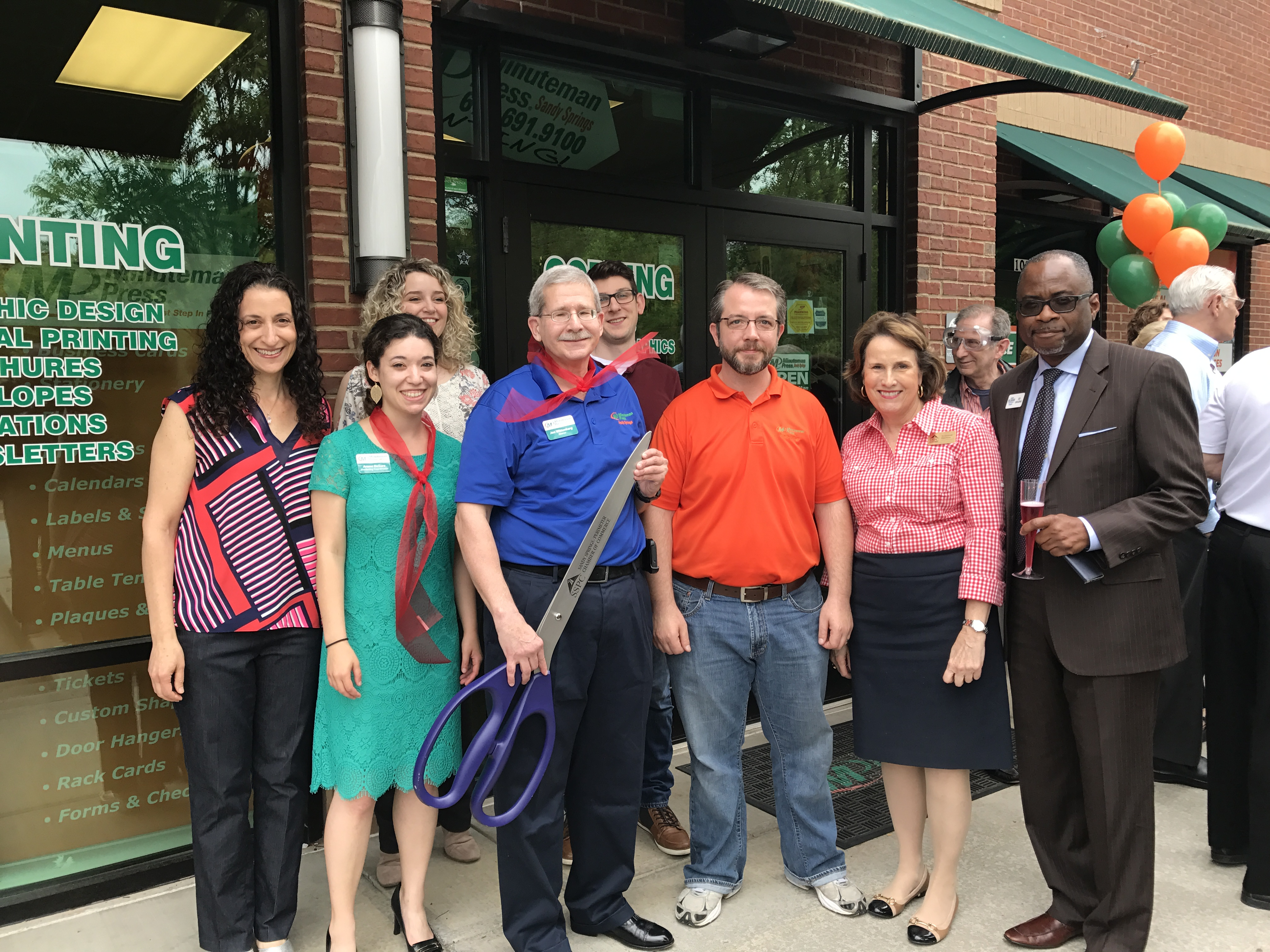 Minuteman Press of Sandy Springs Celebrates Expansion with Ribbon-Cutting