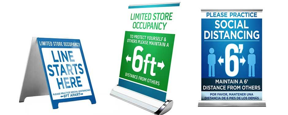 Social Distancing Poster, Signs, Banners, Floor Graphics, and more...