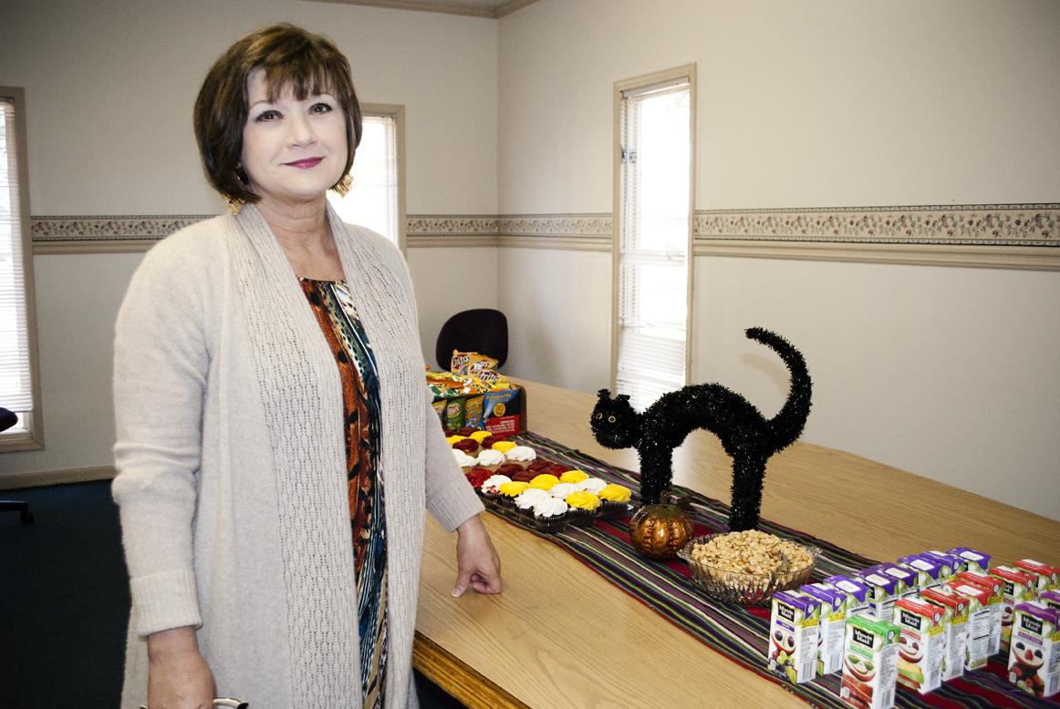 Rhonda Goff Barton with Halloween treats