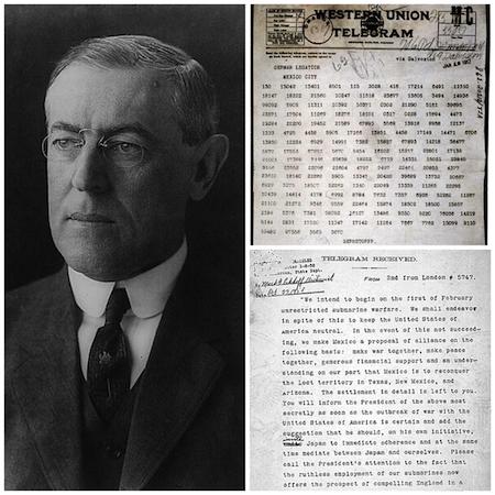 1917: U.S. entered World War I.