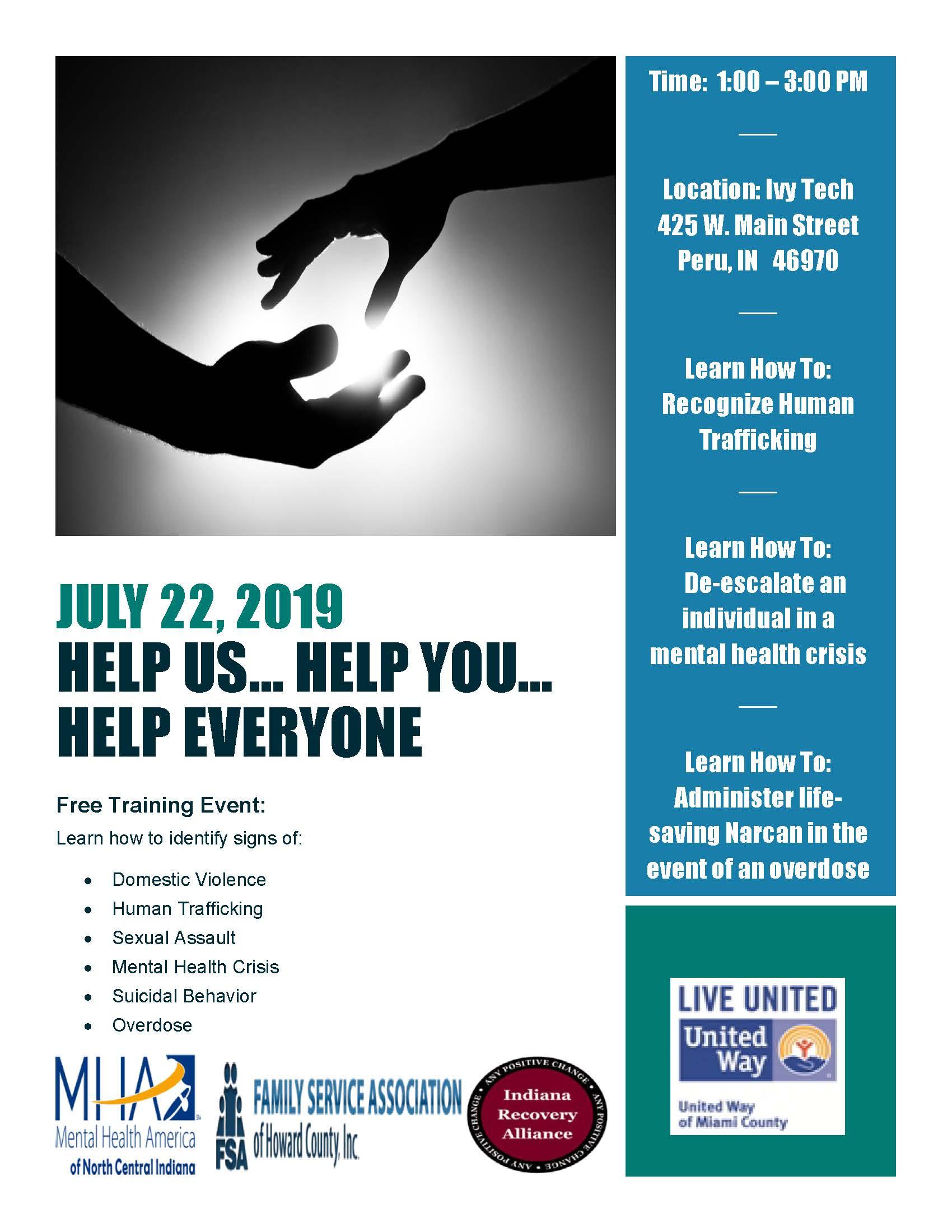 Help Us Help You Help Everyone - Free Training