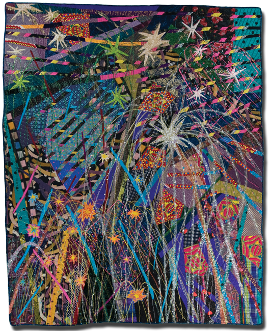 Fireworks, Made by Terrie Hancock Mangat, Made in Cincinnati, Ohio, United States, Dated 1989, 109 x 87 in, IQSC 2000.005.0001