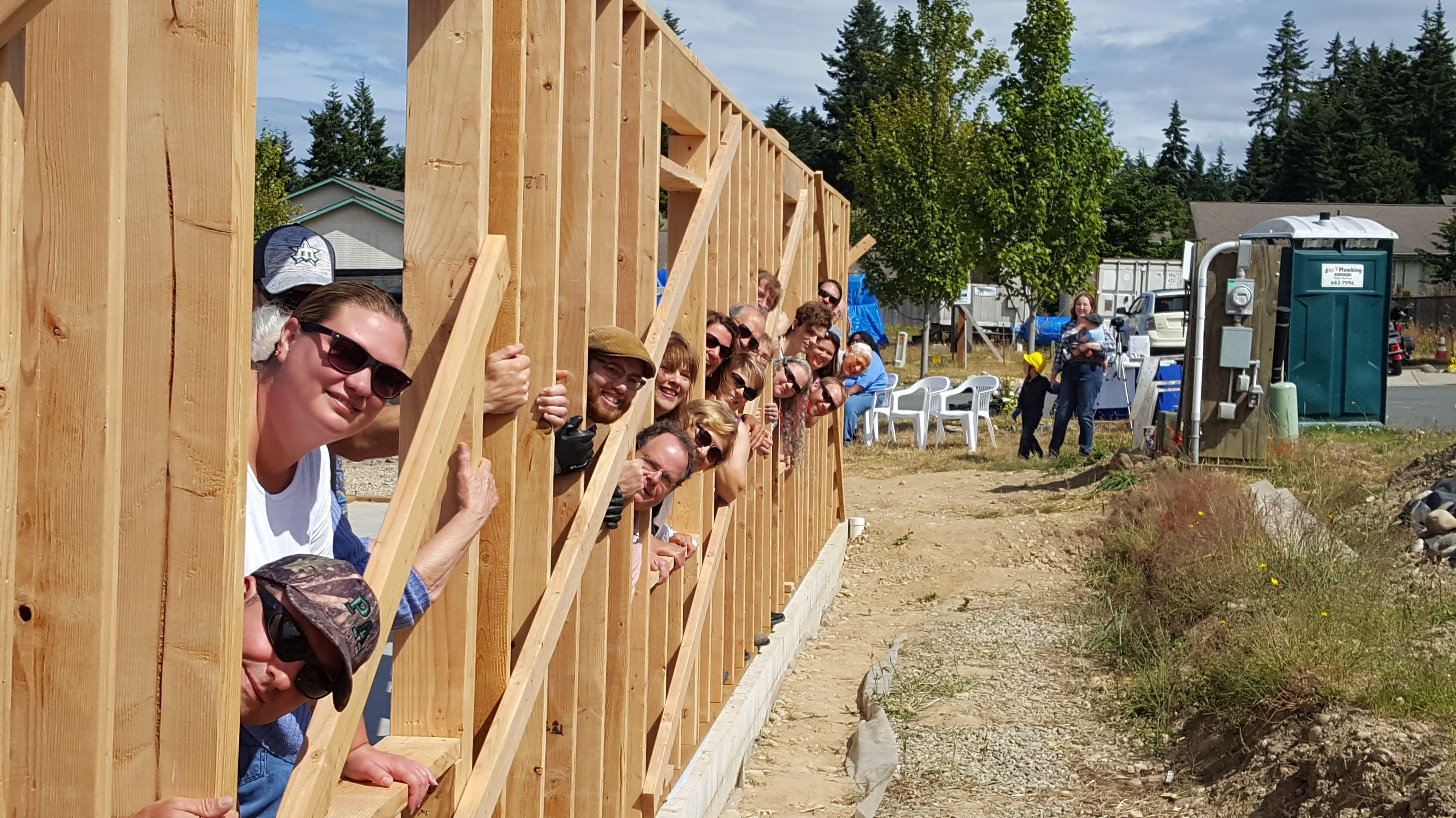 Wall Raising-July 19, 2017