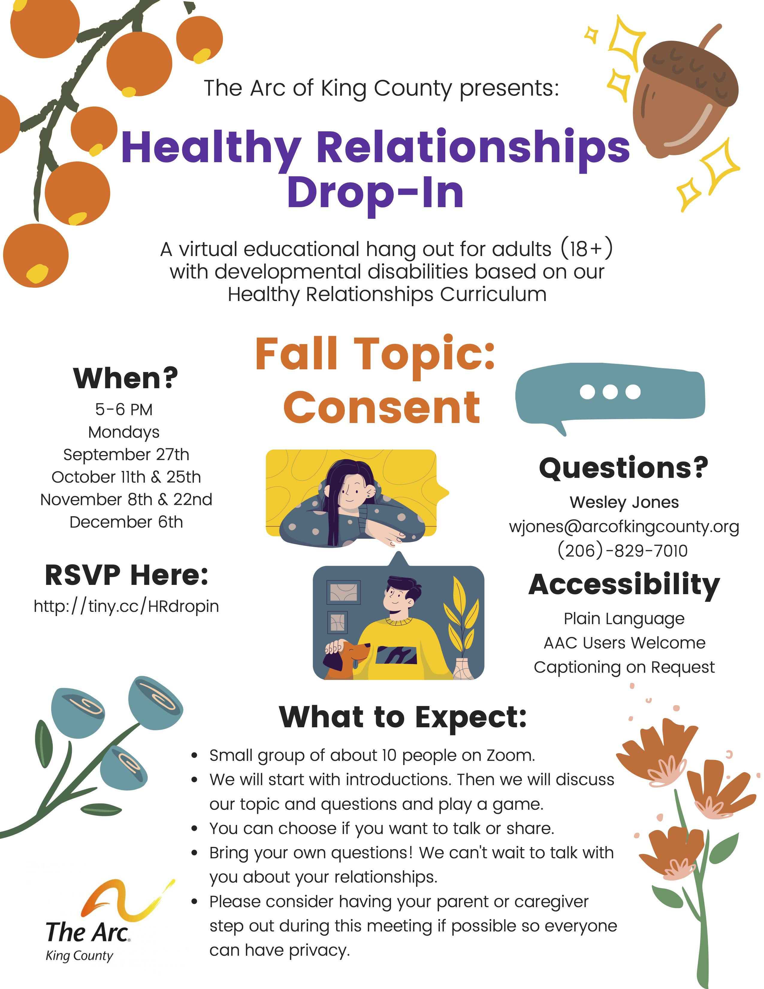 Healthy Relationship Drop-In Flyer