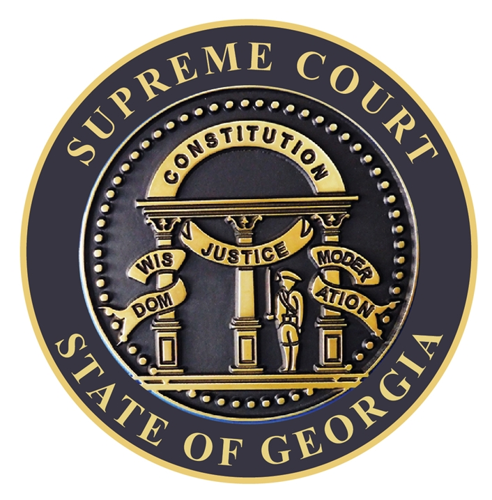 GP-1080 - Carved Plaque of the Seal of the Supreme State Court of Georgia, Artist Painted