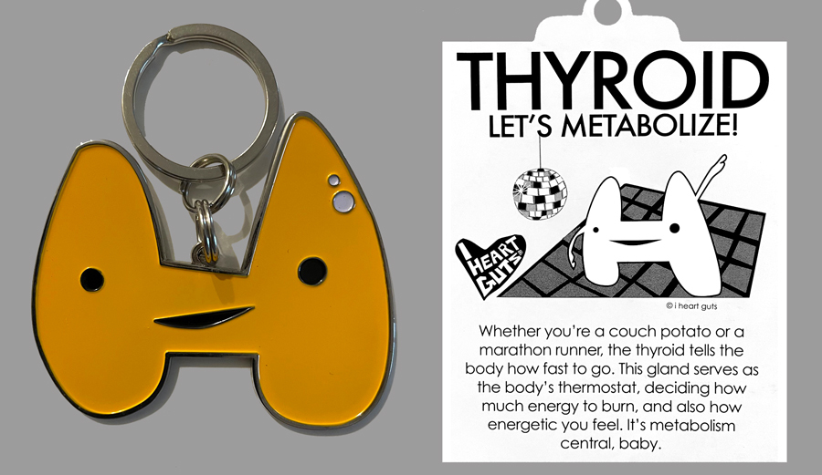 Thyroid Keychain