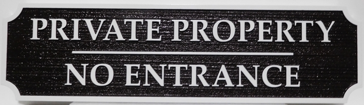 I18973 - Carved Private Property Sign, with Raised Text