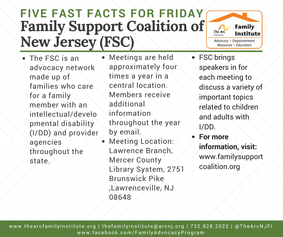 The Family Support Coalition of New Jersey