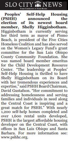 Shelly Higginbotham: Peoples' Self-Help Housing - SLO City News