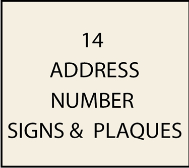 14. - I18850 - Property Address Number Plaques & Signs