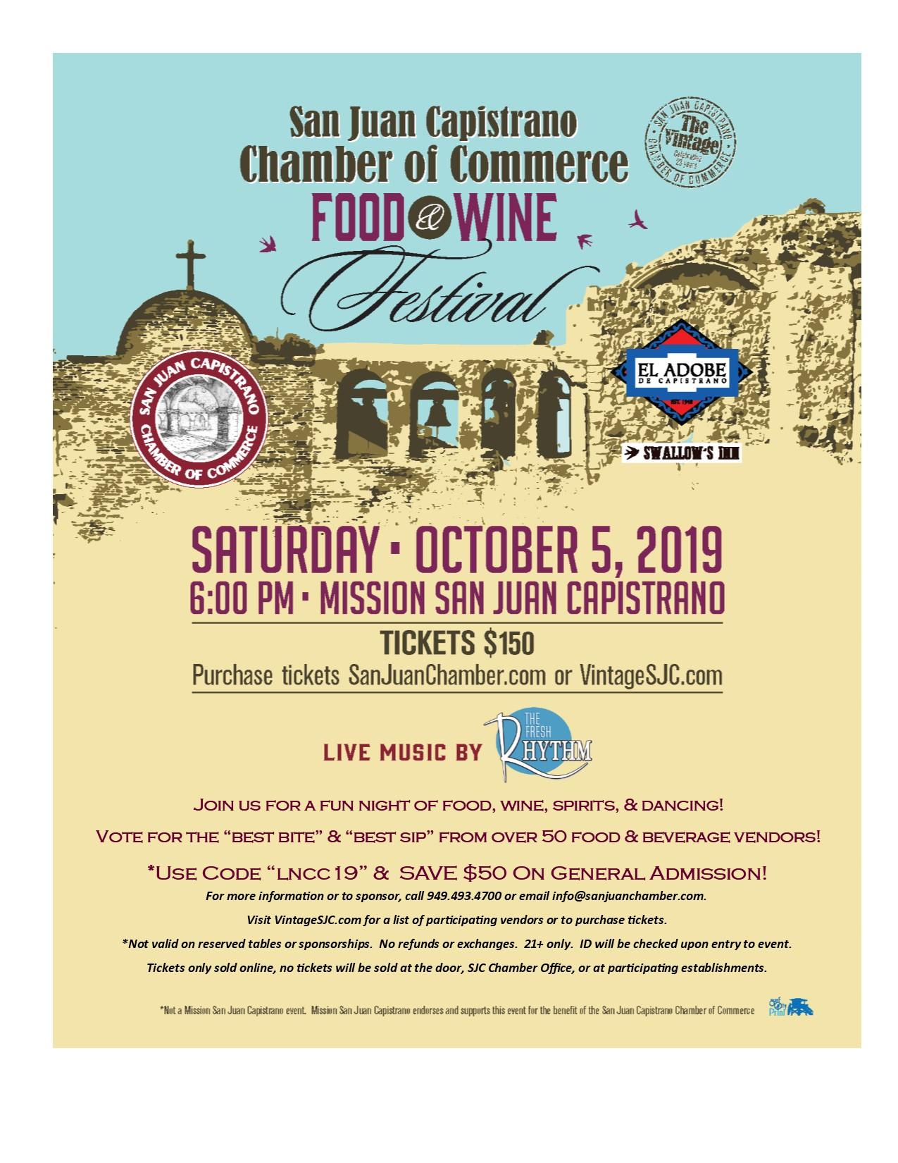 Food & Wine Festival - San Juan Mission - Discount Tickets