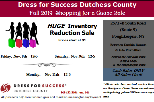Fall 2019 Shopping for a Cause Sale