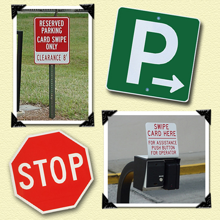 Traffic and Property Restriction Signs