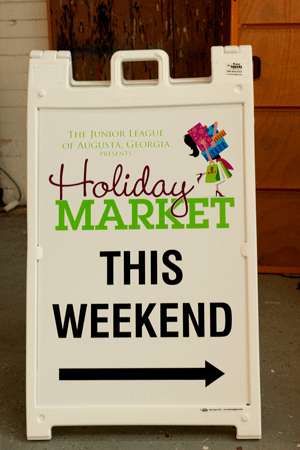 Junior League Holiday Sign