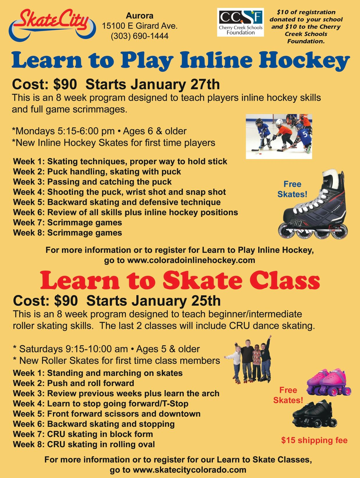 Skate City Inline Hockey and Skating Classes