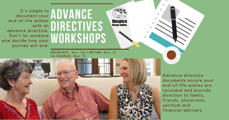 Advance Directive Workshop document end-of-life wishes