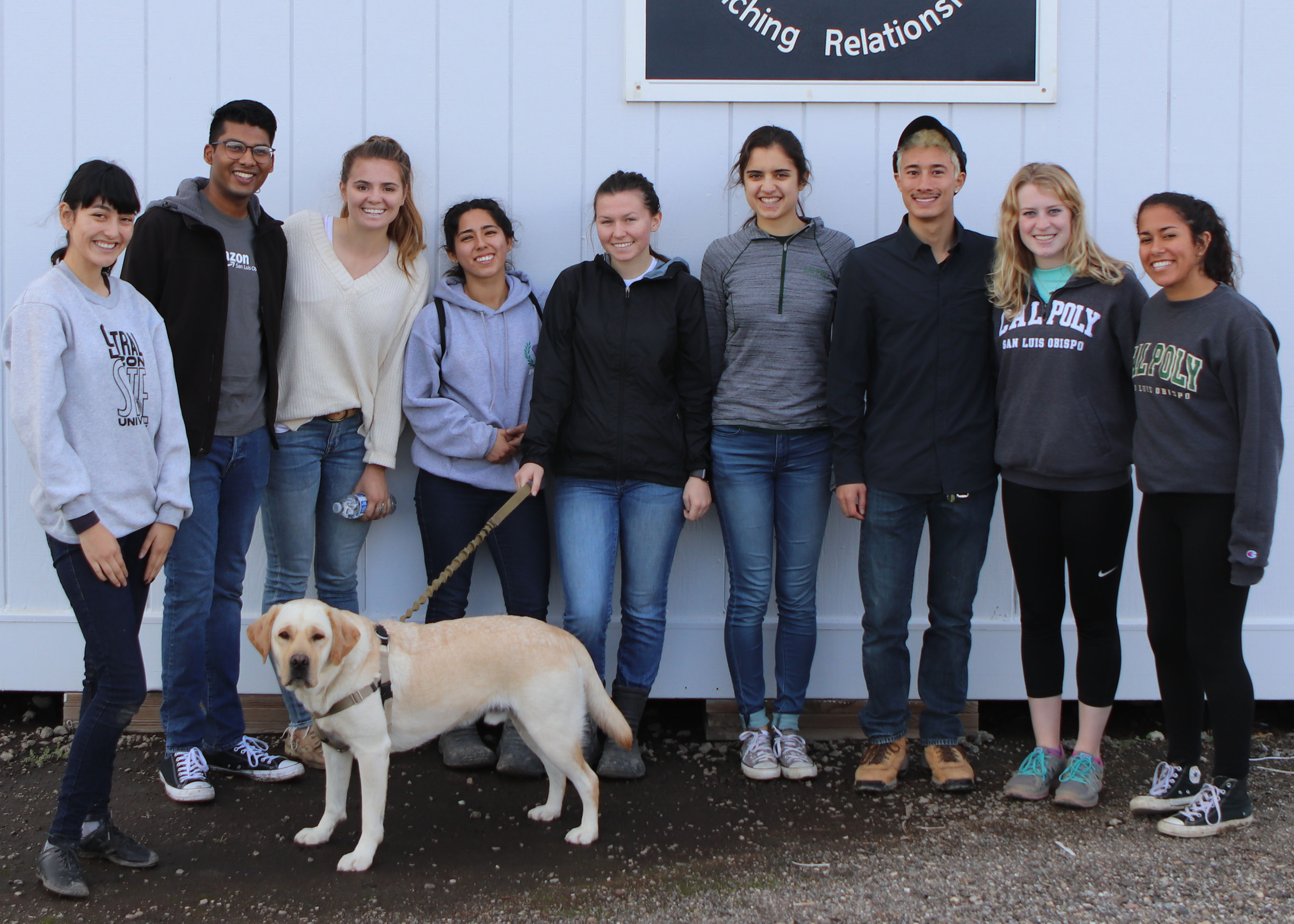 Thank you to the Cal Poly Make a Difference Month Student Volunteers!