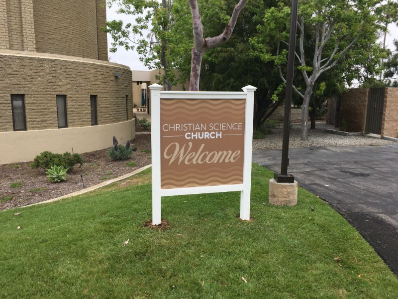 Exterior signs for churches in Newport Beach CA
