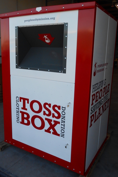 100% Clothing Donation Drop Box