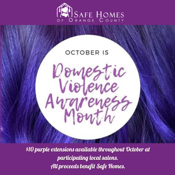 Salons for Safe Homes - Purple Hair Extensions Fundraiser