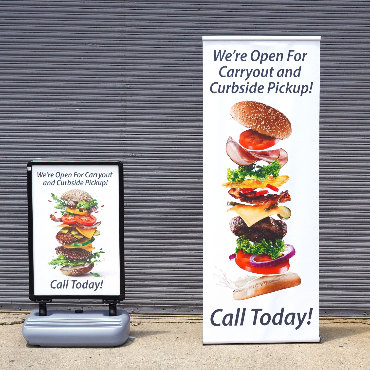Banner Stand and Snap Sign