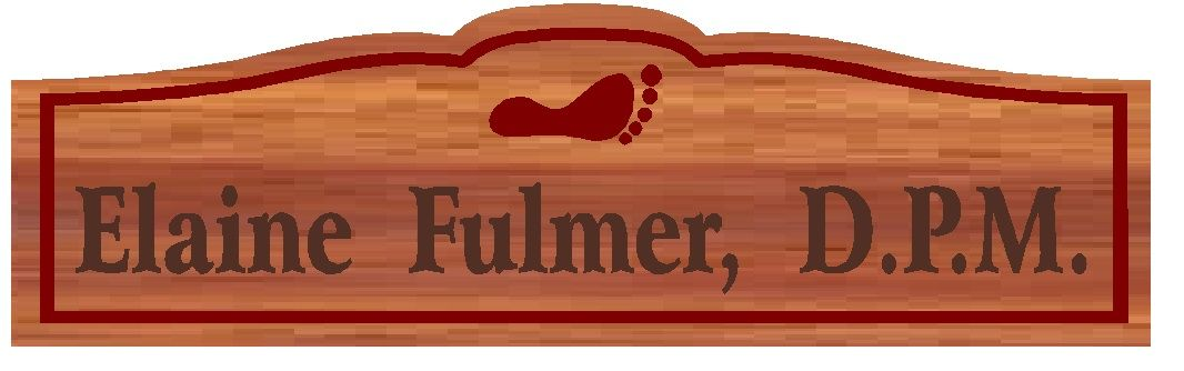 B11063 - Engraved Wood Plaque for a Podiatrist (D.P.M.), with Engraved Footprint