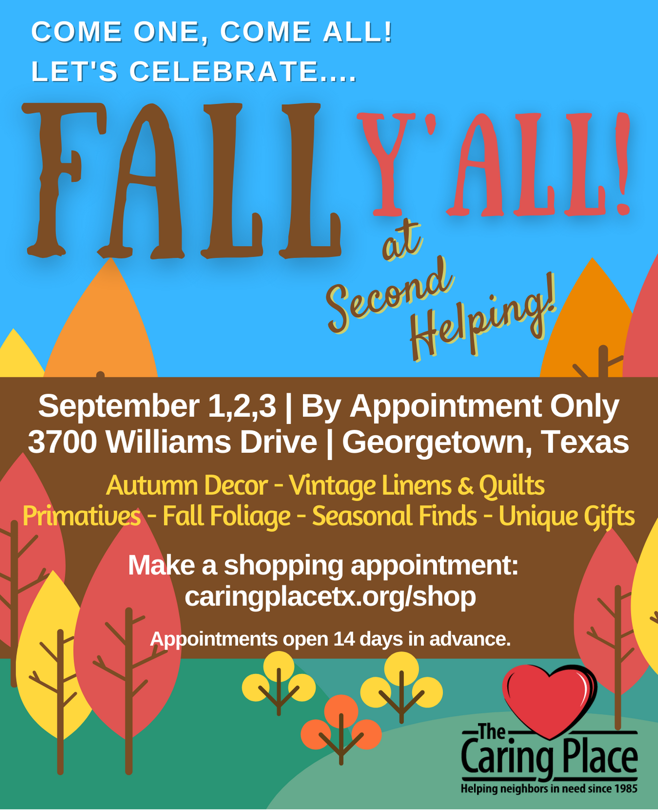 Fall Y'all is back at Second Helping (By Appointment)