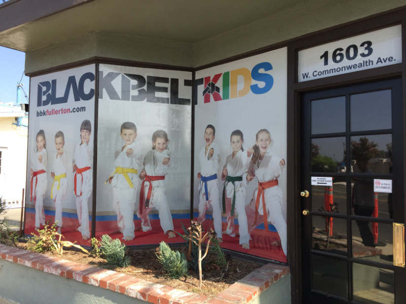 Window Wraps Fullerton CA | Martial Arts Studios