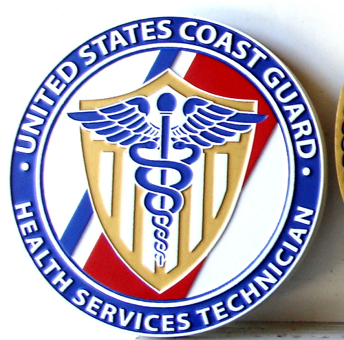 V31925 - US Coast Guard Health Services Technician Wall Plaque