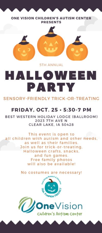 Children's Autism Center Sensory Friendly Halloween Party