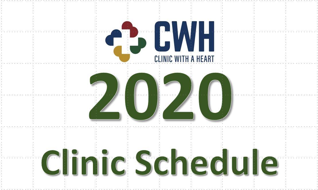 2020 Clinic Schedule