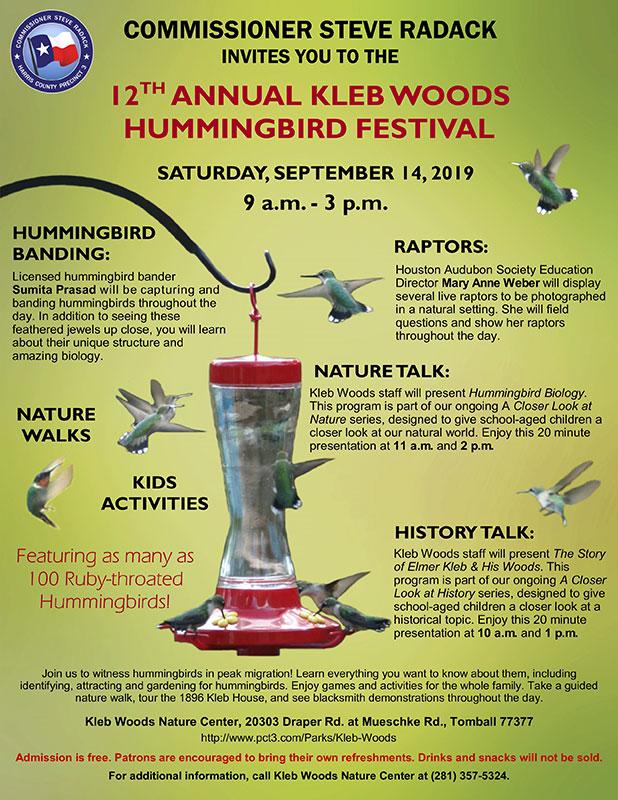Kleb Woods Hummingbird Festival