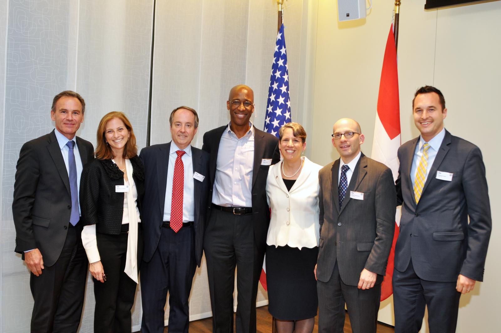 Michelle Goldberg in Switzerland, with Ambassador Suzi LeVine