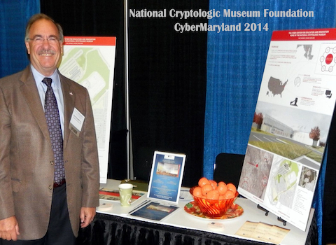 NCMF President Dick Schaeffer at the NCMF booth during CyberMaryland 2014