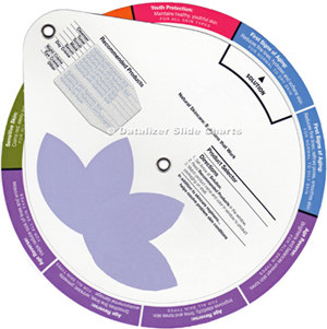 Beauty Care Products Selection Wheel Chart