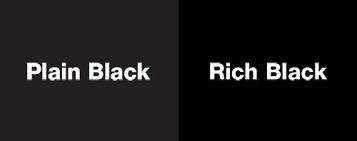 Printing CMYK; Black, when is it black?