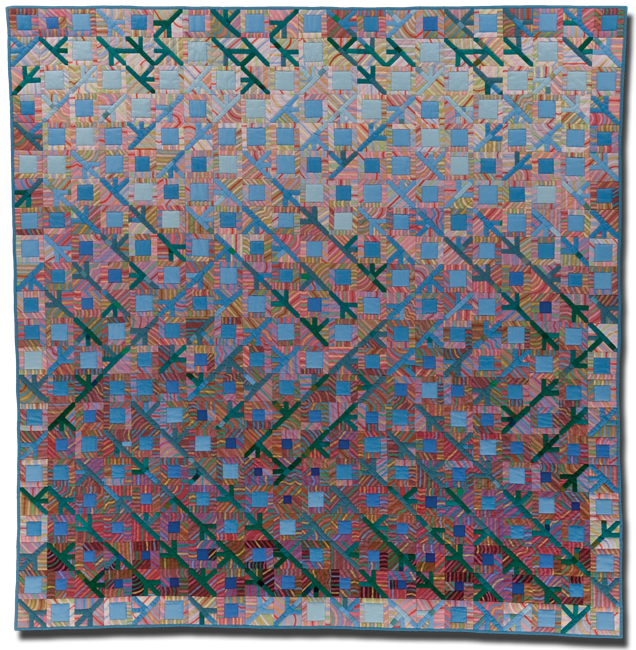 Number 41, Made by Pamela Studstill, Made in Pipe Creek, Texas, United States, Dated 1984, 65.5 x 63.5 in, IQSC 1997.007.1029